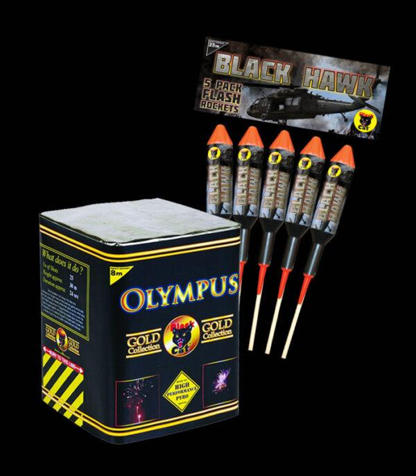 Olympus (25Shots) with Black Hawk Rockets (5Pcs)