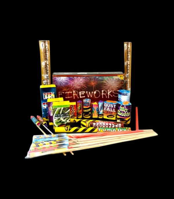 Sky Party Selection Box with rockets 2 sets sparklers